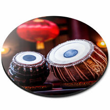 Round Mouse Mat - Tabla Drum Music India Folk Office Gift #2645