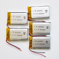 5 pcs 3.7V 600 mAh Lipo Polymer li ion Battery 602540 power for MP3 DVD GPS PAD