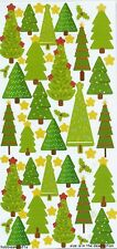 TRIMCRAFT SIMPLY CREATIVE GLITTER STICKERS - CHRISTMAS - TREES