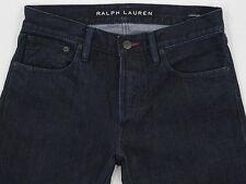 Mens RALPH LAUREN BLACK LABEL Straight Dark Wash Denim Jeans 29W X 29L NU COND