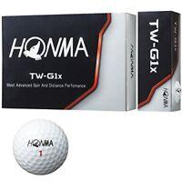 Honma Golf Honma Ball Tw G1X Ball 1 dozen 12 Pieces White