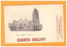 BATZ (44) Publicité BISCUIT GUILLOUT / EGLISE avant 1904