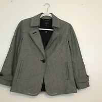 Talbots Women's Blazer Size Jacket 4 Cotton One Button Closure Fully Lined