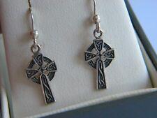 beautiful vintage silver 925 Celtic Cross Earrings Kit Heath Heritage