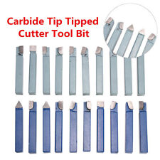 "20 PC 1/4"" C2 & C6 CARBIDE-TIPPED TOOL BIT SET SINGLE POINT BRAZED LATHE KIT"