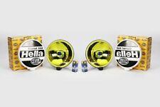 Hella Comet 500 Yellow Spotlight Set With Bulb Mounting Kit Cap 17.6cm x 6.7cm