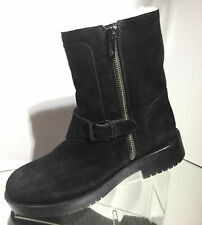 NEW JIL SANDER Navy Suede Shearling Fur Lined Booties (Size 39) - MSRP $500.00!