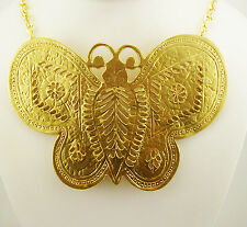"Kenneth Jay Lane ""In Time"" Bold Butterfly Necklace MADE IN USA"