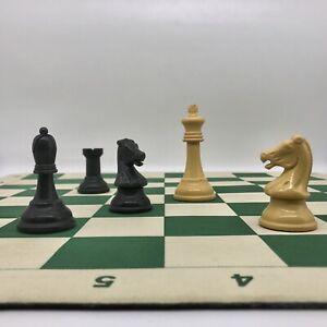 "Vintage Drueke Mousepad Chessboard / Chess Board. 2.185"" Squares w. Notation!"