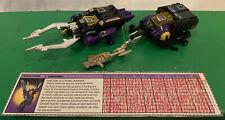 Transformers G1 Shrapnel & Bombshell, 1986 Text Spec Lot