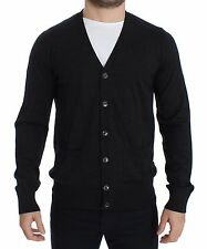 NWT $550 DOLCE & GABBANA Mens Gray Wool Cardigan Sweater Pullover Top IT44 / XS