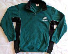 NFL Philadelphia Eagles Men's Large 1/4 Zip Polyester Fleece Pullover Green Blac
