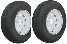 "2-Pack Trailer Wheel & Tire #426 ST205/75D14 205/75 D 14"" LRC 5 Hole White Spoke"