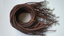 "Hot Wholesale Bulk lot 10pcs brown Suede Leather String 20"" Necklace Cords"