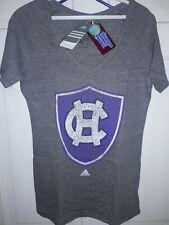College of the Holy Cross Crusaders NCAA Adidas  T-Shirt HC shield logo Ladies M