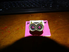 BETSEY JOHNSON Creepy Critter Owl Stretch RING PINK EYES STRETCH  AUTHENTIC NWT