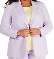 Bar III Womens Blazer Lavender Purple Size 16W Plus Single Button $129 410
