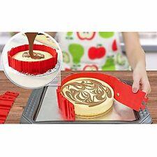 snake bake magic molds- set of 4 red