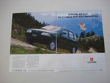advertising Pubblicità 1992 CITROEN AX 4X4
