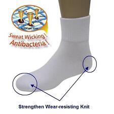 6 Pairs Antibacterial Crew Ankle Socks Moisture Wicking & Odor Resistant Socks