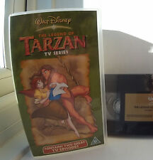 Walt Disney Legend of Tarzan TV Series VHS PAL UK Video Tape Sell Thru 2 Episode