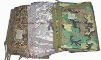 Poncho Liner Woobie Blanket US Military Woodland, ACU, USMC Camo BDU Wet  Army