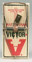 New! VICTOR Rat Mouse Snap Trap Reusable Spring Pedal Rodent Pest Control M210