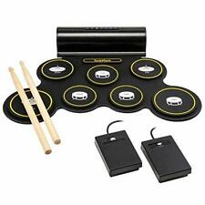 Ivation Portable Electronic Drum Pad - Built-In Speaker (DC Powered)