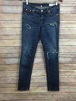 Rag & Bone/JEAN Skinny Ripped Jeans (Size 25)