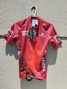 Hincapie Men's Half Zip Drury Hotels Tour of Missouri Small Cycling Shirt --New