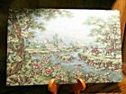 """Vintage Set (2) Western Life Tapestry/Wall Hanging Decor16x10.5"""" Unframed    Box"""