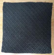 Housse coussin noire en soie