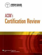 ACSM's Certification Review by [No American College of Sports Medicine Paperback