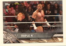 TRIPLE H 2017 TOPPS WWE ROAD TO WRESTLEMANIA SILVER PARALLEL /25