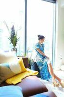 BNWT Rixo London Tonya Blue Tiger Dress Sz XS S L XL
