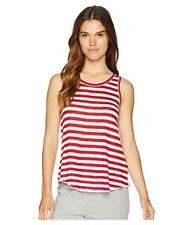 "New PJ SALVAGE ""76 Vibes"" Tank Top Red White Stripe Keyhole Back T Shirt M"