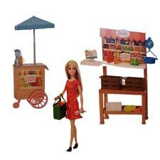 Mattel Barbie Puppe Süßer Obstgarten Bauernhof Spielset mit Zubehör Wochenmarkt