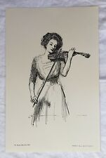 """Charles Dana Gibson THE SWEETEST STORY EVER TOLD 17"""" x 11"""" Reproduction Print"""