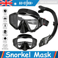 Swimming Diving Full Face Snorkel Snorkeling Mask Swim Dive Maskanti Fog AU Hot
