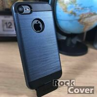 iPhone 6 & 6S Rugged Case Reinforced Metal Design & Glass Screen Protector Blue