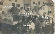 Foto  verletzte Soldaten im Lazarett  1.WK  (f32)