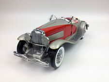 Ertl 1:18 1935 Duesenberg SSJ, Diecast Model Metal Car Red RARE  White Box