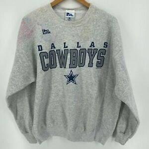 Pro Player Sweatshirt Men's XL Gray Dallas Cowboys Vtg 90's Made in USA
