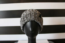 Unisex Black/Gray/White Knit Cable Beanie Hat Samsung C&T Corporation Sz F 8''