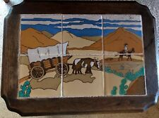 California tile table Taylor Wagon Train mission arts and crafts western cowboy