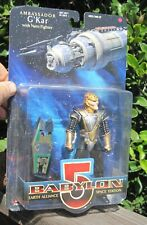 Babylon 5 Ambassador G'Kar Figure with Narn Fighter -Exclusive Premiere Moc 1997