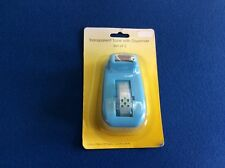 Tape dispenser (heavy duty), includes a roll of transparent tape, blue.  New.