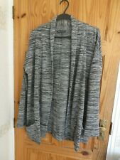 MARKS AND SPENCER COLLECTION BLACK & WHITE GREY MARL CARDIGAN 14