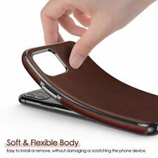 iPhone 11 Case Luxury Leather Slim Rugged Bumper AntiScratch Shockproof Brown
