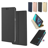 For Oppo Reno 2 Ultra Thin PU Leather Wallet Flip Case Cover Card Holder Shell
